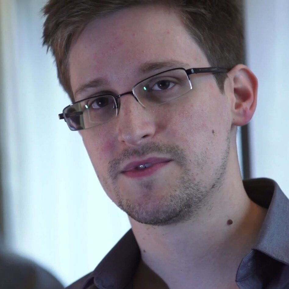 Edward Snowden, seen during a video interview with <em>The Guardian</em>.