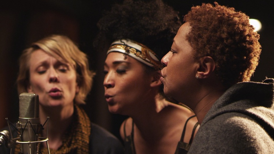 Jo Lawry, Judith Hill and Lisa Fischer are three of the backup singers featured in Twenty Feet From Stardom. (Radius/TWC)