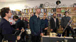 The National performs a Tiny Desk Concert on June 7, 2013.