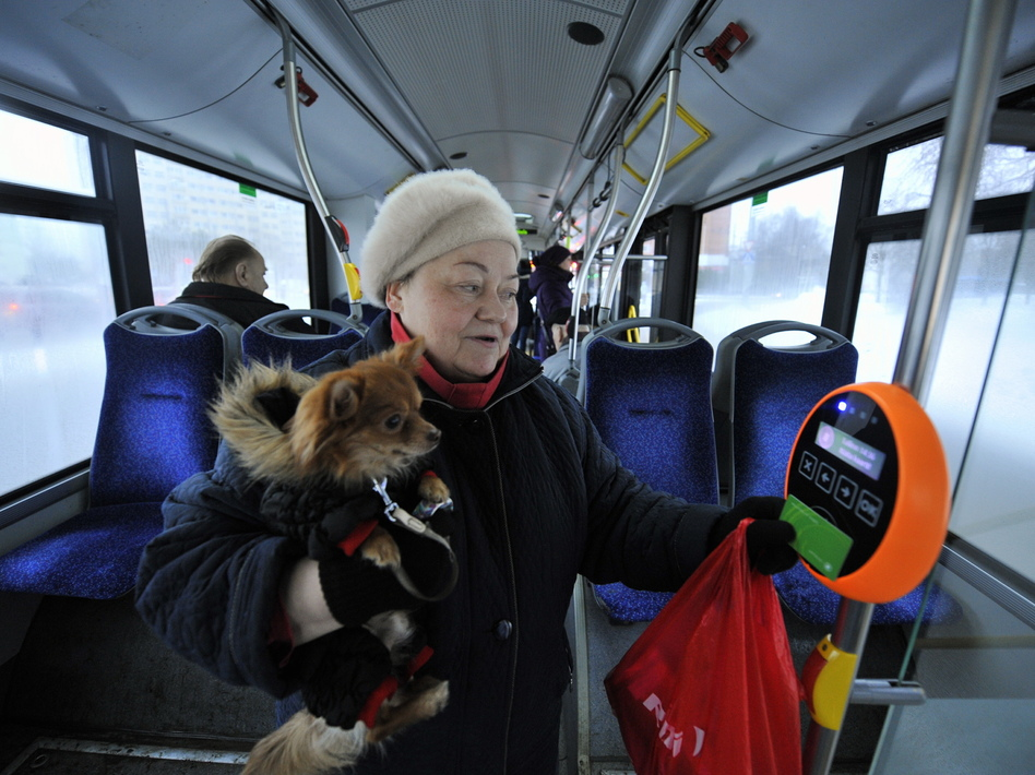 Residents of the Estonian capital of Tallinn can use public transportation for free after purchasing a special card for 2 euros.