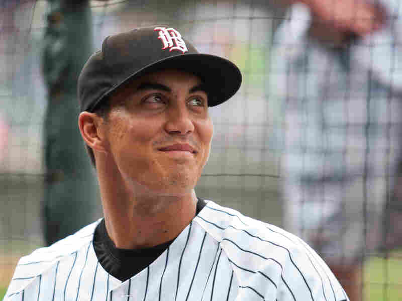 Tyler Saladino plays for the Birmingham Barons, the AA affiliate of the Chicago White Sox.