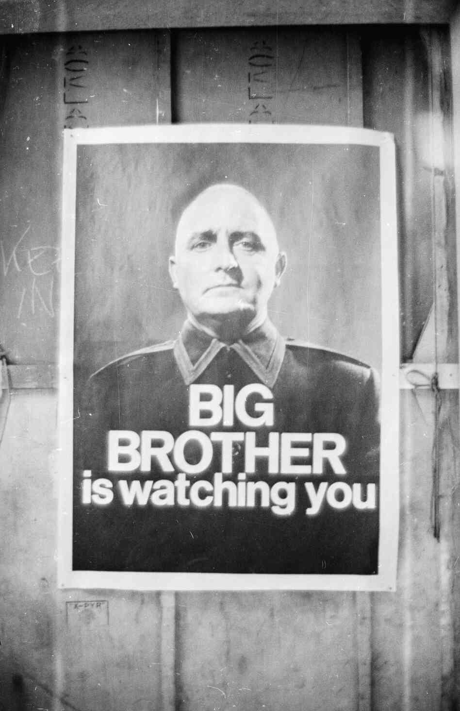 A 1965 poster advertises a BBC TV production of George Orwell's classic novel 1984.