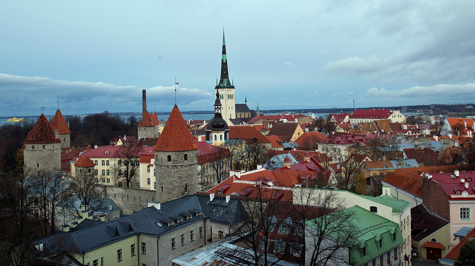 The old town area of Tallinn, Estonia, is dotted with medieval buildings that reflect its long history. But the city has placed great emphasis on high-tech since the country broke away from the Soviet Union two decades ago. (Bloomberg via Getty Images)