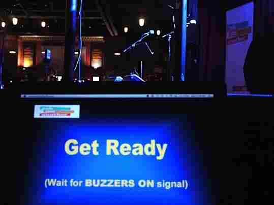 Ask Me Another's high-tech buzzer system from Affordable Buzzers.