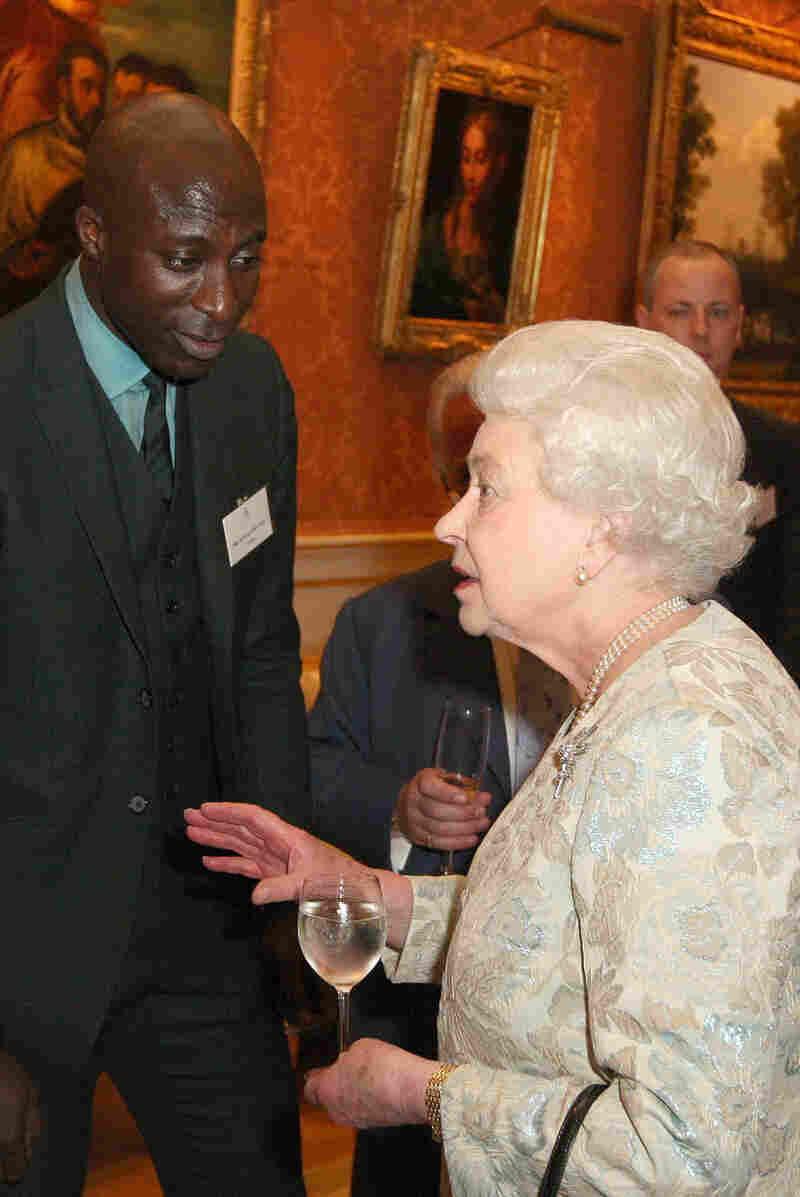 Queen Elizabeth II meets  Boateng.