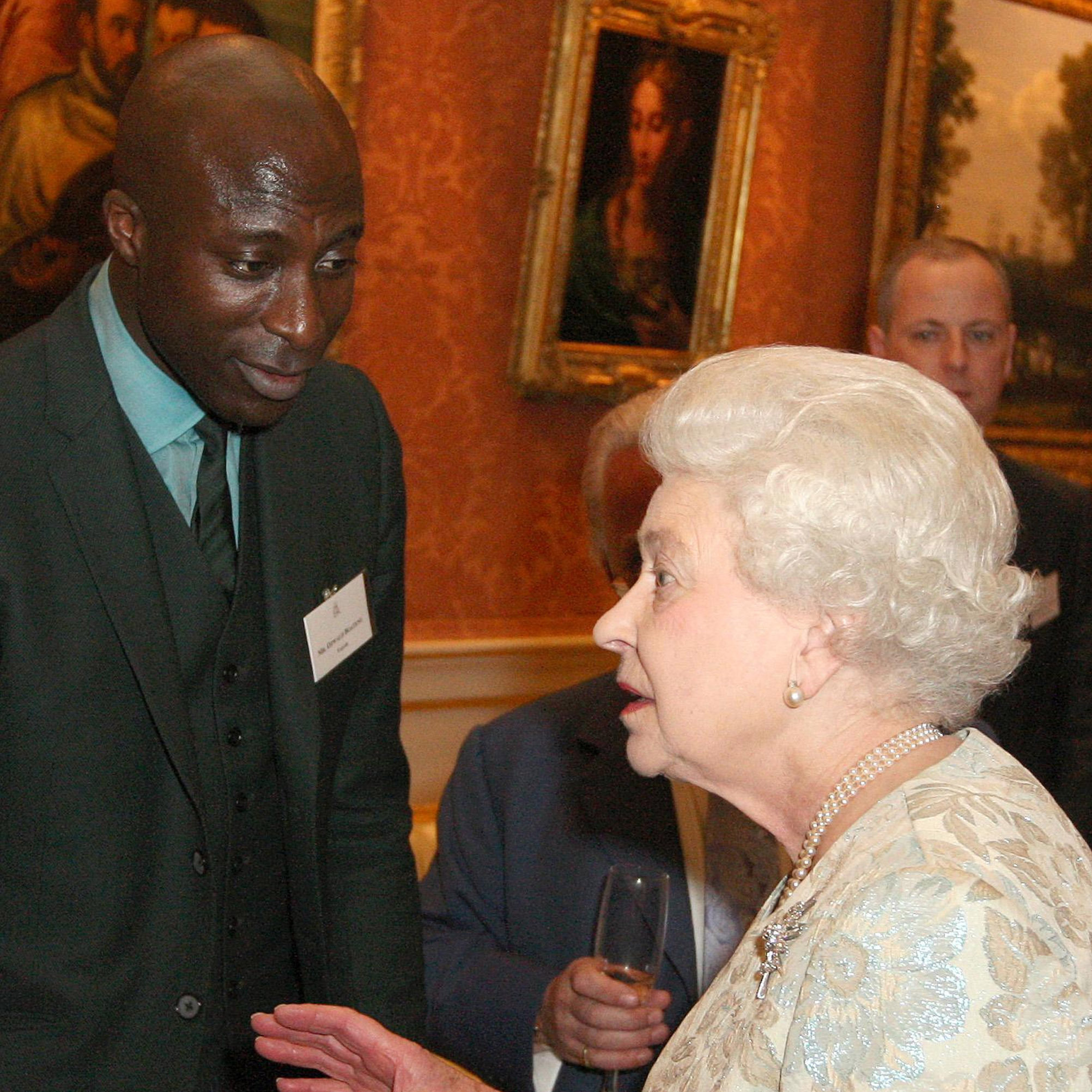 Queen Elizabeth II meets  Boateng.