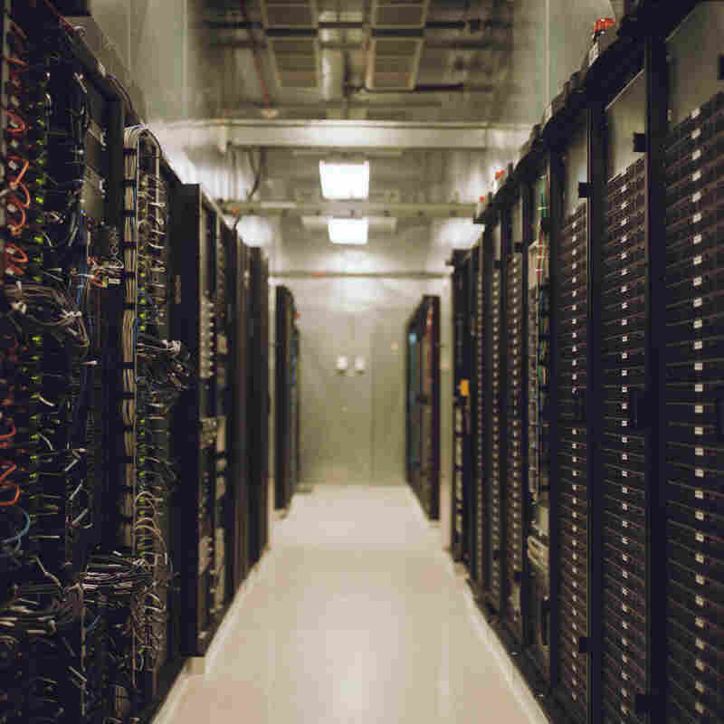 """Nick Easley of the Union Station Technology Center calls this room full of servers at the center """"the cloud."""""""
