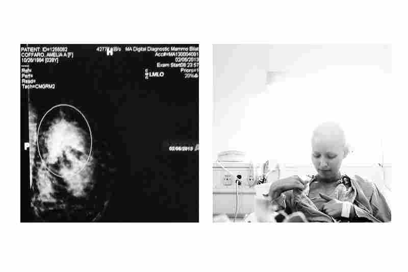 good morning breast cancer. i am going to kick your ass.(Left photo by Amelia Coffaro; right by Elizabeth Griffin)