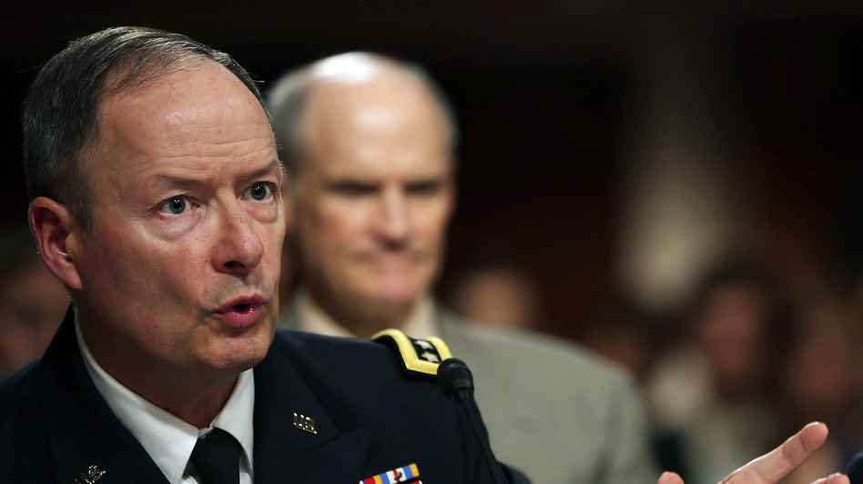 U.S. Army Gen. Keith Alexander, commander of the U.S. Cyber Command, director of the National Security Agency (NSA), testifies during a Senate Appropriations Committee hearing on Capitol Hill, on Wednesday. (Getty Images)