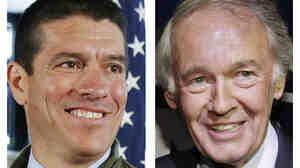 Recent polls suggest Massachusetts Republican Gabriel Gomez (left) is within striking distance of Rep. Ed Markey (right) in a contest for a U.S. Senate seat.