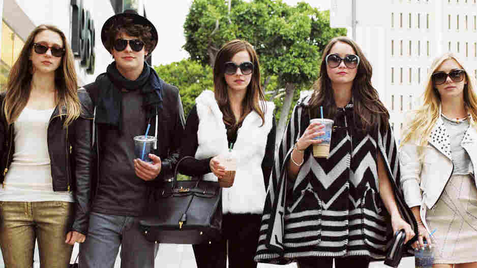 """Taissa Farmiga (left) and Israel Broussard are key players in the five-person posse (otherwise known as the """"Hollywood Hills Burglar Bunch"""") targeting celebrity homes in The Bling Ring, stealing clothes, jewelry and cash from the likes of Lindsay Lohan."""