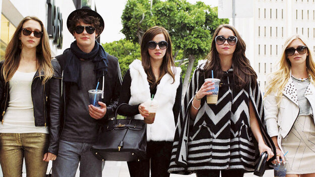 "Taissa Farmiga (left) and Israel Broussard are key players in the five-person posse (otherwise known as the ""Hollywood Hills Burglar Bunch"") targeting celebrity homes in The Bling Ring, stealing clothes, jewelry and cash from the likes of Lindsay Lohan."
