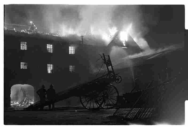 Fire (malicious) at the business premises of Hugh J. O'Boyle, building contractor, Downpatrick, Northern Ireland, 1970s.