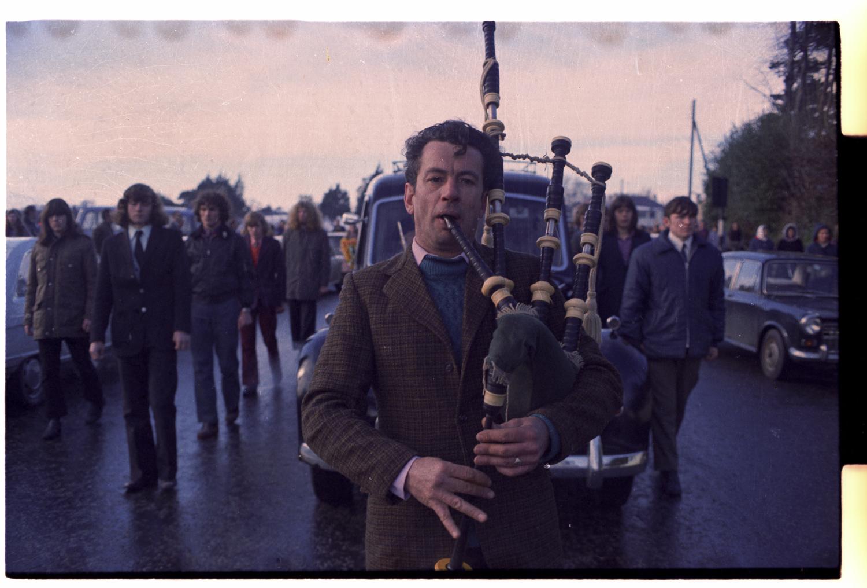 Provisional IRA funeral of Vivienne Fitzsimons, Downpatrick, Northern Ireland, 1970s.