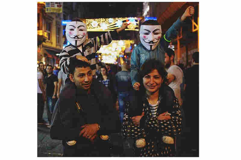 Children with Guy Fawkes masks on Istiklal Street. (Posted June 9)