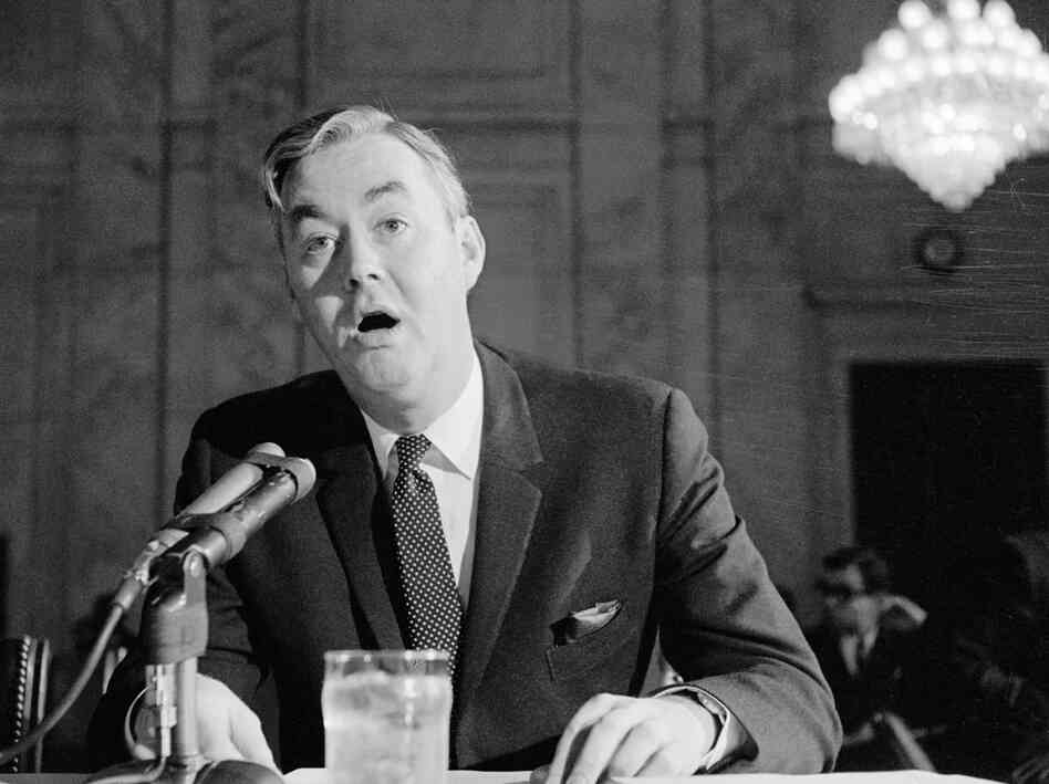 Daniel P. Moynihan appeared before the Senate Government Operations subcommittee in 1966. He had conducted a study on poverty among blacks