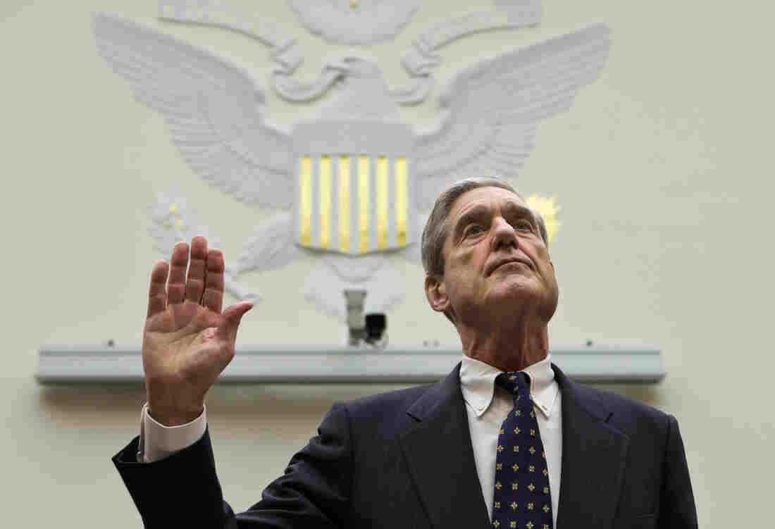FBI Director Robert Mueller is sworn in on on Capitol Hill in Washington, on Thursday.