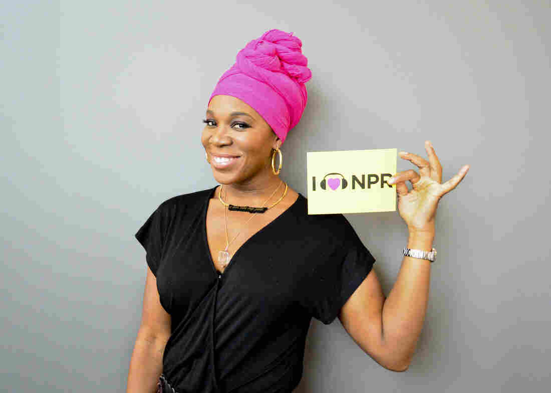 India.Arie at NPR's Washington, D.C. headquarters.