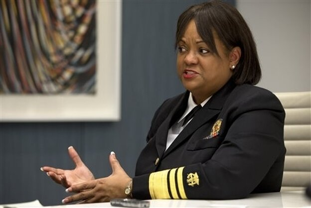 Surgeon General Regina Benjamin speaks on health disparities in Washington, D.C., on Dec. 5, 2012.