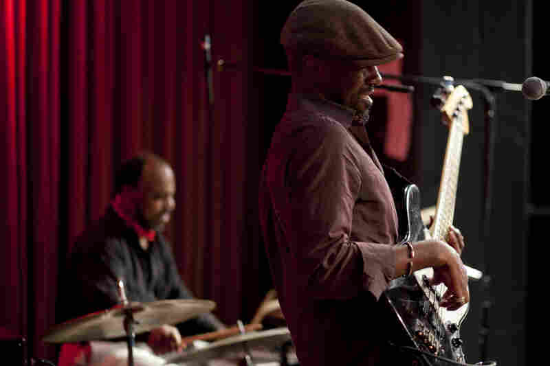 Brad Jones (bass) and Pheeroan akLaff.