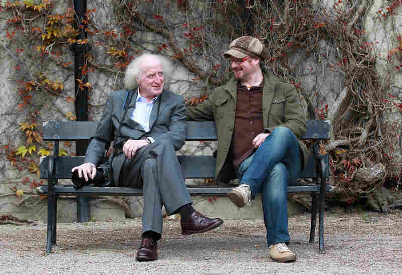 Steafán Hanvey with his father, Bobbie. The two artists have been heavily influenced by Northern Ireland, and the scope of their photos, interviews and music reflects on both their culture and their family over time.