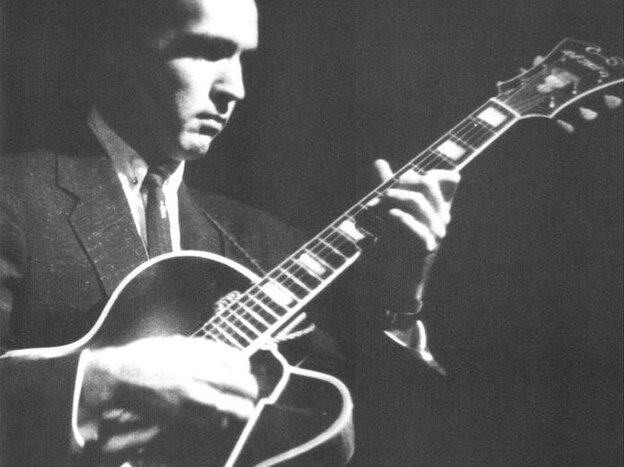 The cover image of The Complete Roost Johnny Smith Small Group Sessions, a 2002 box set of work from across the jazz guitarist's career.