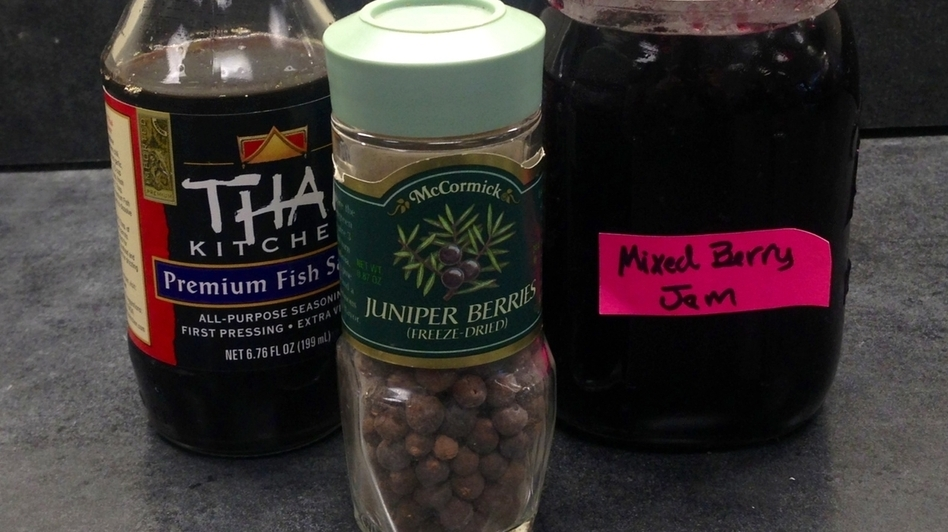 Thai fish sauce, juniper berries and jam (Victoria Dougherty)