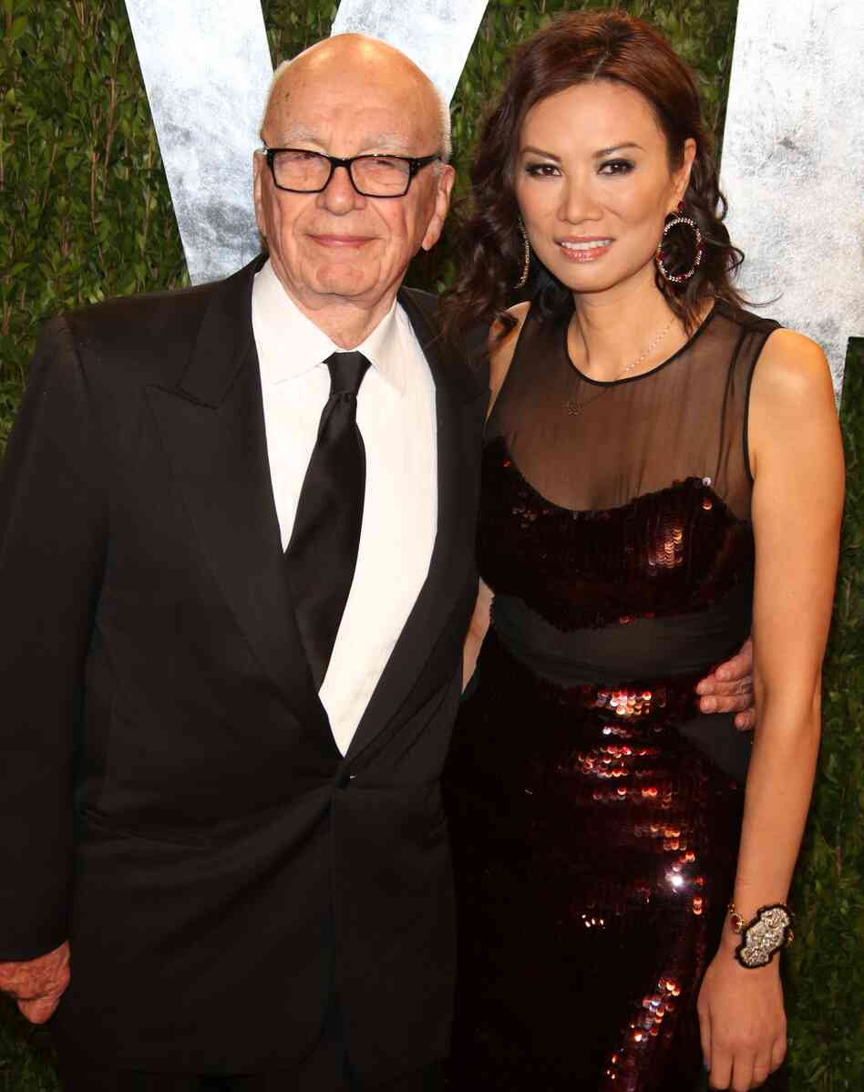 Rupert and Wendi Deng Murdoch at the Vanity Fair Oscar Party in West Hollywood on Feb. 24.