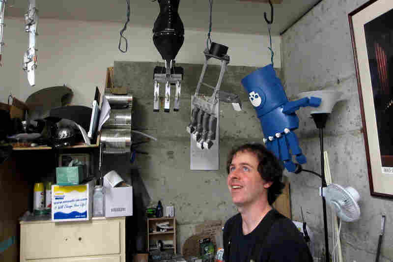 Ivan Owen, a special effects artist in Bellingham, Wash., creates large mechanical hands. He is also one of the creators of the Robohand.