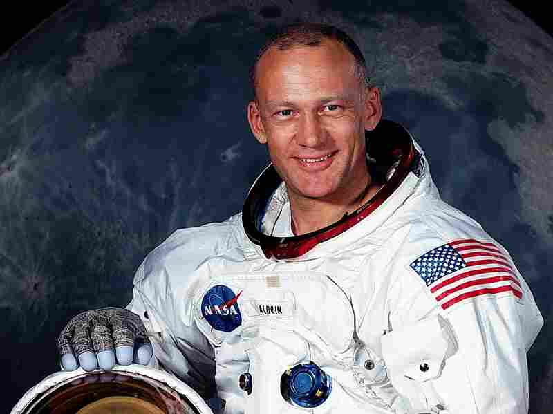 American astronaut Buzz Aldrin in July 1969.