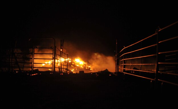 A fire that's been burning since Tuesday continues to consume acreage near Colorado Springs in Black Forest, Colorado.