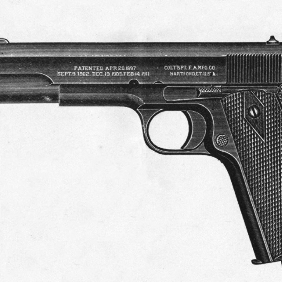 John Browning submitted his M1911 designs to the U.S. Patent Office in September 1910.