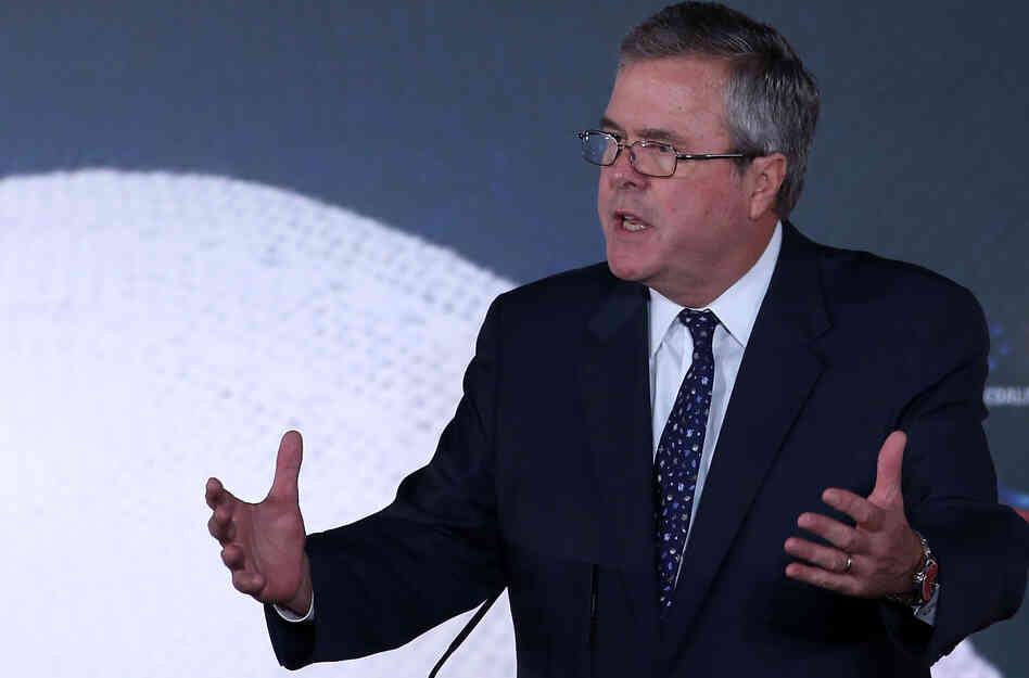 """Immigrants are more fertile, and they love families,"" former Florida Gov. Jeb Bush said F"