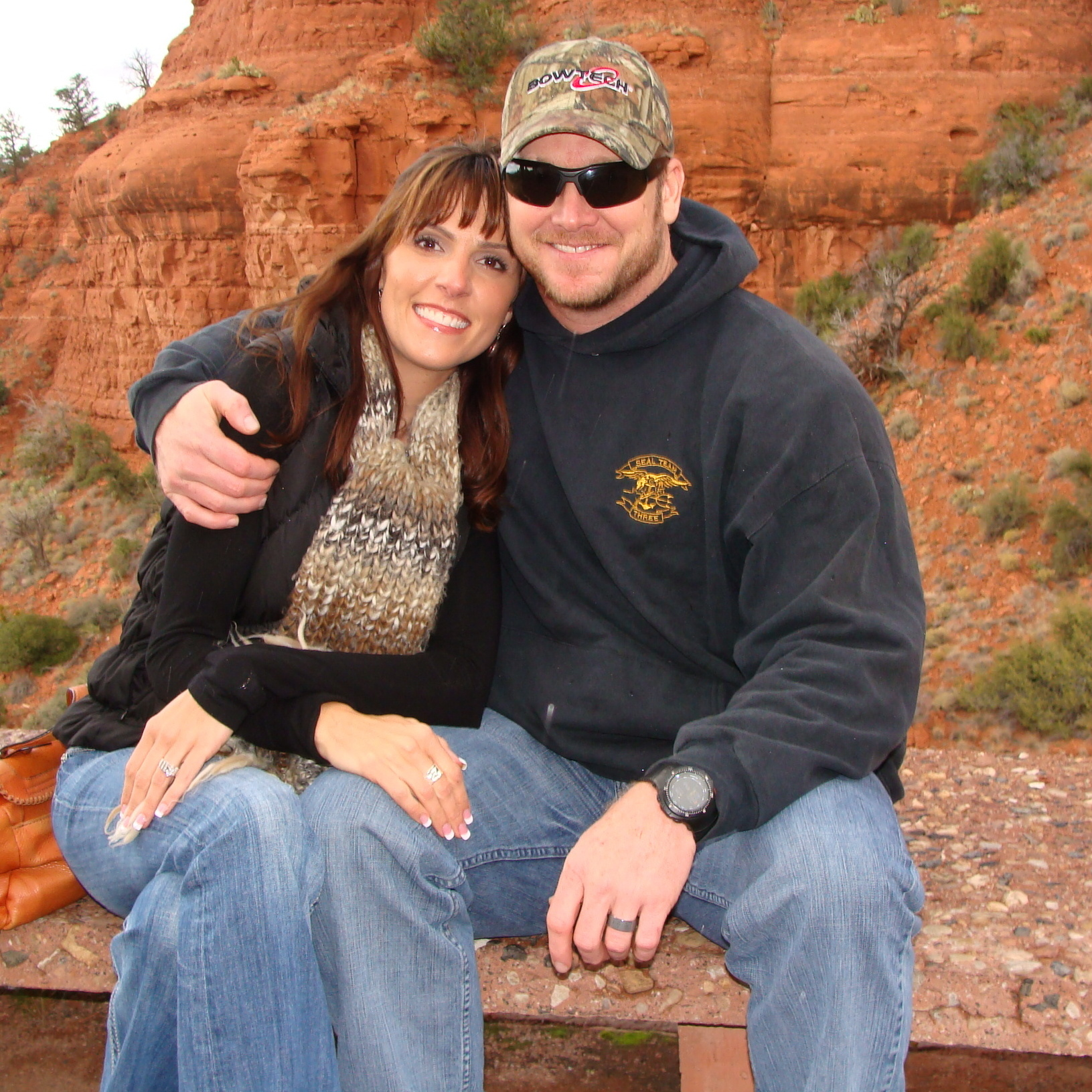 Author Chris Kyle and his wife, Taya, in Sedona, Ariz. Chris was killed in February 2013.