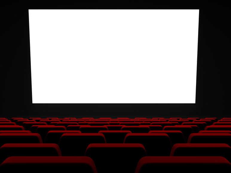 Empty movie theater.