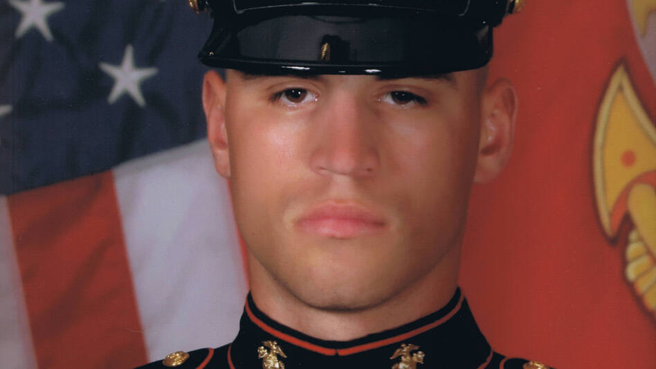 "Lance Cpl. Nicholas Rodriguez joined the Marines at the age of 21. He ""wanted to go and help the world in some way,"" says his stepfather, Michael Geiger. (Courtesy of Anna Rodriguez)"