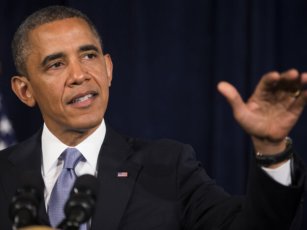 President Obama encourages people to sign up for health insurance exchanges in San Jose, Calif.,