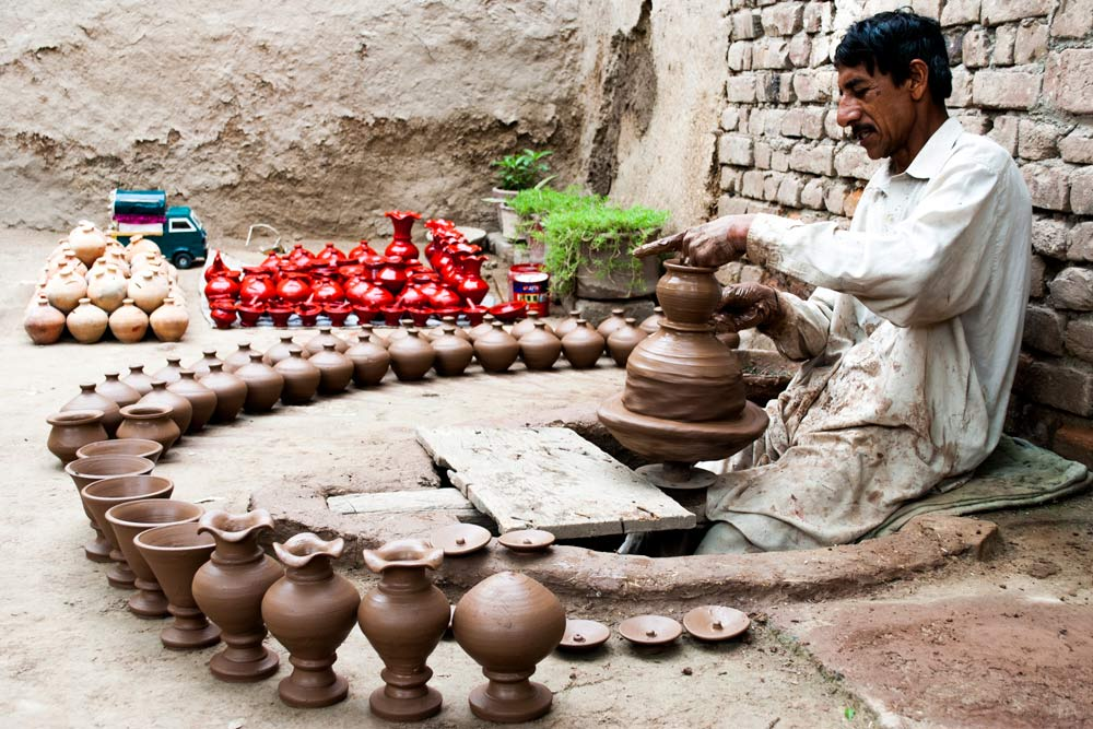Baseer runs a pottery workshop in Jamrud, Khyber Agency.