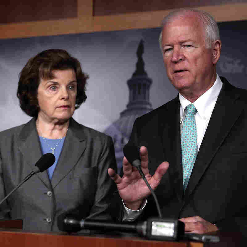Sens. Saxby Chambliss, R-Ga., and Dianne Feinstein, D-Calif., speak to the media about the controversial National Security Agency programs.