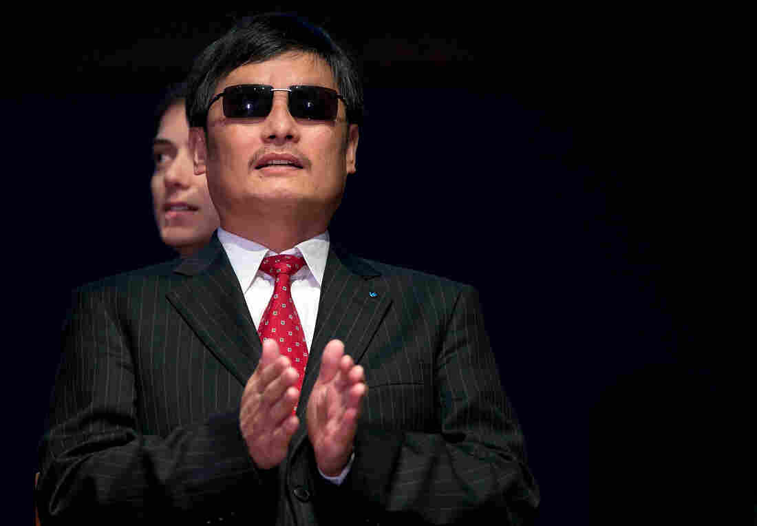 Chinese human rights activist Chen Guangcheng during a ceremony in January where he was presented the Tom Lantos Human Rights Prize.