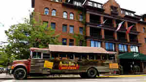 The Banjo Billy bus tour starts and ends outside the Hotel Boulderado, at the corner of 13th and Spruce streets. Banjo shares some haunting tales from previous (and possibly still-current) guests, particularly those on the third floor and inside the still-functioning Otis elevator.