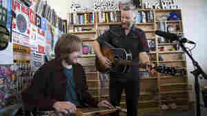 Billy Bragg performs a Tiny Desk Concert in the NPR Music offices.