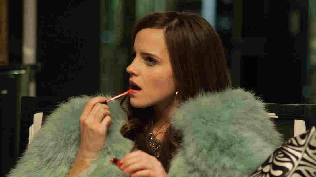 In Sofia Coppola's film The Bling Ring, about the excesses of Los Angeles materialism, Emma Watson plays narcissistic party girl Nicki.