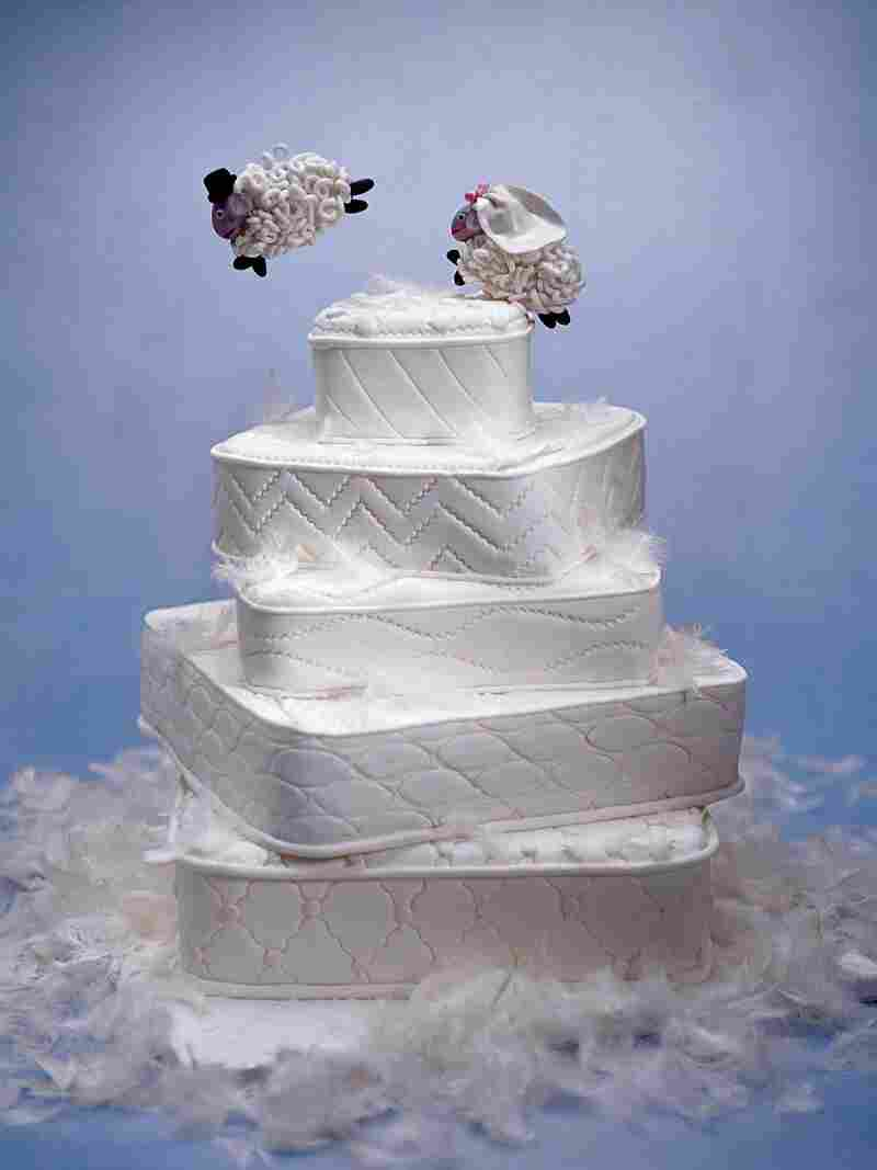 """The """"Counting Sheep"""" cake as pictured in Cakes To Dream On."""
