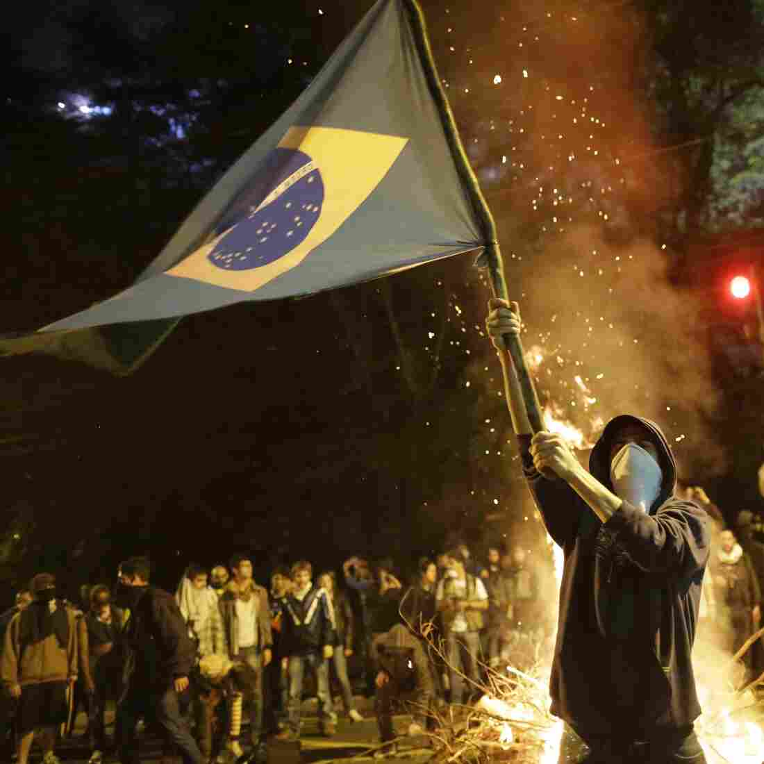 A mass protest in Sao Paulo on Monday night was one of several across the country where demonstrators raised a host of grievances. Some demonstrators said they drew their inspiration from the protests in Turkey.