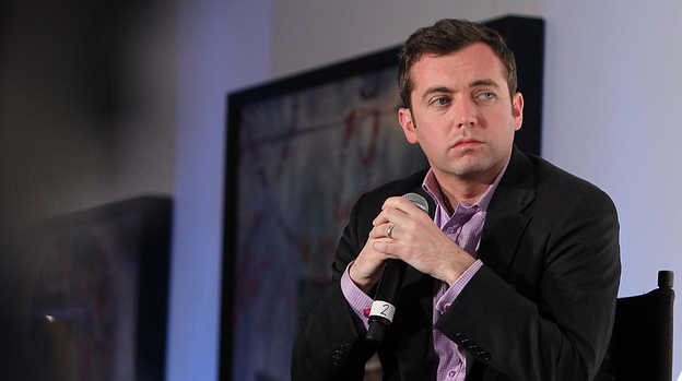 Michael Hastings, 33, has died in a car crash in Los Angeles, according to reports. The author of wartime books and articles that included a candid profile of Gen. Stanley McChrystal is seen here at an event last year. (Getty Images for The Guardian)