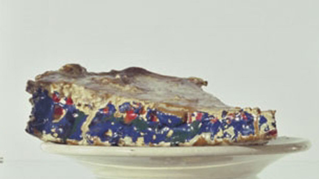 Oldenburg's fascination with simple, everyday objects often led him to food as a subject, as with Pastry Case, I, 1961-62. (Museum of Modern Art)
