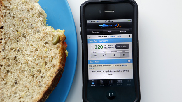 How many calories in that bite? My Fitness Pal and other fitness and nutrition apps can help find the answer. (NPR)