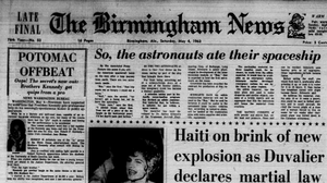 The Birmingham News' front page on May 4, 1963.