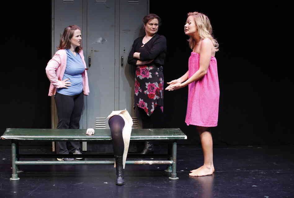 Mary Theresa Archbold (left), Anita Hollander and Tiffan Borelli star in Bekah Brunstetter's Gorgeous, part of Theater Breaking Through Barriers' initial Some of Our Parts Festival in 2011. A third round of new short plays runs through June 28 at New York City's Clurman Theatre.